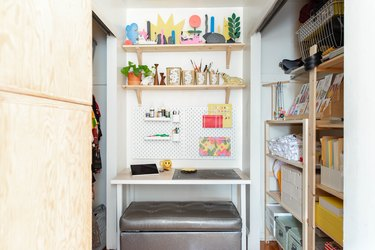 craft room organization ideas in a small space