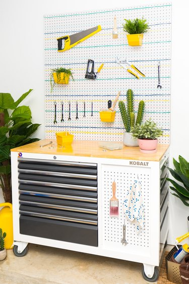 craft room organization ideas with tool box