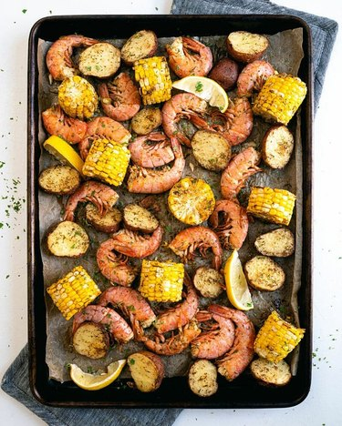 A Couple Cooks Sheet Pan Shrimp Boil in Oven