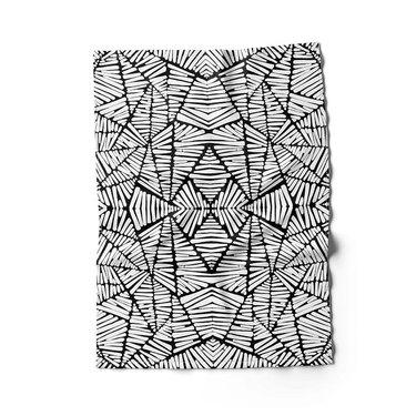 Rochelle Porter Design Tea Towel in black and white pattern