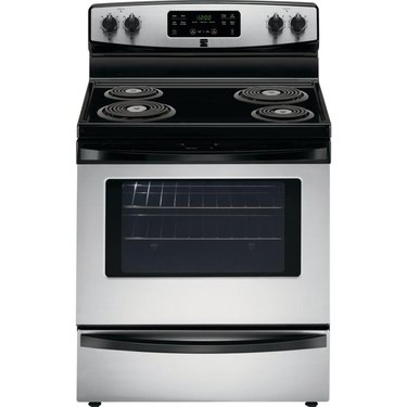 Kenmore stove 92563 5.3 cu. ft. Self-Clean Electric Coil Range in Stainless Steel, $629.99