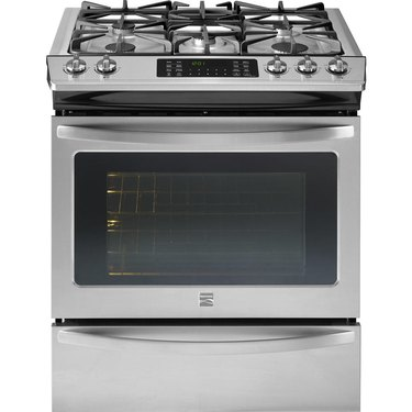 Kenmore stove 32673 4.5 cu. ft. Slide-In Gas Range with True Convection Cooking in Stainless Steel, $1169.89