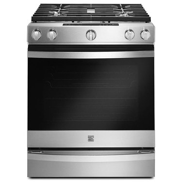 Kenmore stove with 5.8 cu. ft. 30 in. Gas Front-Control Range in Stainless Steel, $1699.99