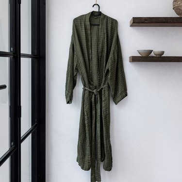 Cultiver Linen Waffle Robe, $150