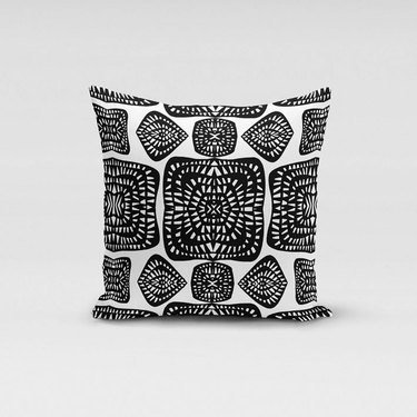 Rochelle Porter Design Pillow Cover in black and white pattern