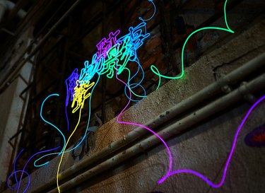 Sharmaine Kwan neon artwork on a public building