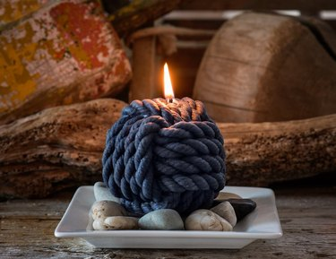 rope knot candle
