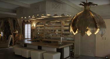 actress Bridget Fonda and composer Danny Elfman's guest house bar