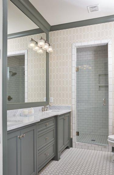 painted bathroom millwork