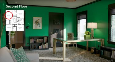 actress Bridget Fonda's guest house office in los angeles