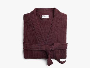 mulberry cotton robe