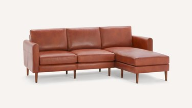 Burrow Block Nomad Leather Sectional