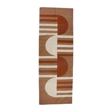 Leah Singh tan neutrals handwoven rug