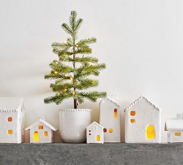 Pottery Barn Handmade Ceramic Christmas Village Houses