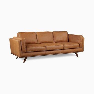 West Elm Zander Leather Sofa