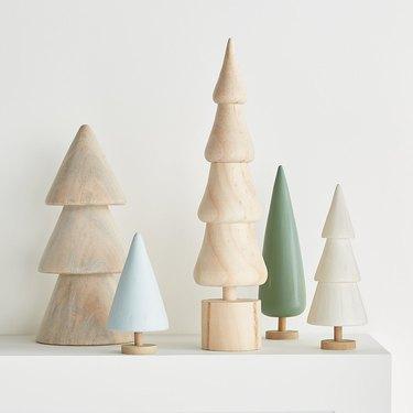 Crate & Barrel Wooden Trees