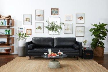 JoyBird Briar Leather Sofa