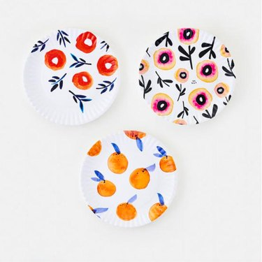 platter dishes with floral patterns
