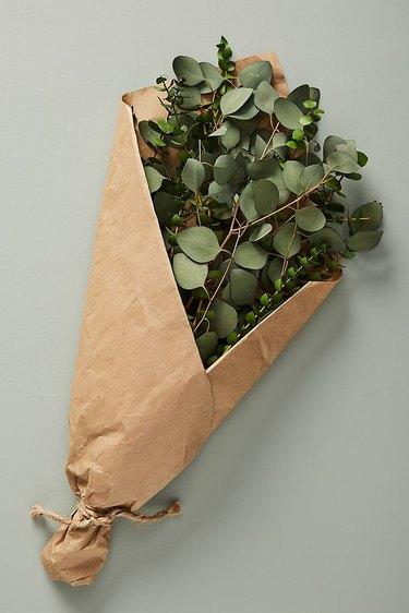 Anthropologie Dried Eucalyptus Bouquet