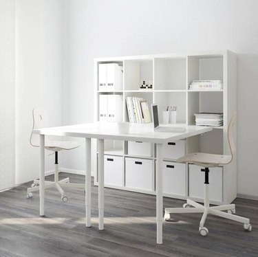Craft Table with Storage white