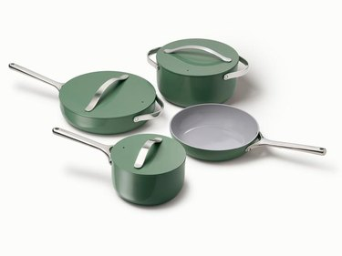 green caraway cookware set