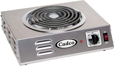 Electric Stove Burner from Cadco CSR-3T Countertop Hi-Power Single 120-Volt Hot Plate