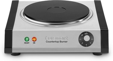 Electric Stove Burner from Cuisinart Cast-Iron Single Burner, Stainless Steel