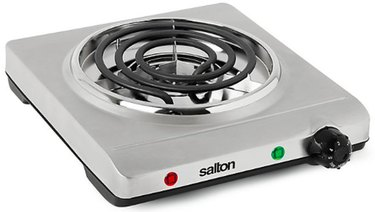 Electric Stove Burner from Salton Stainless Steel Single Coil Portable Cooking Range by Toastess