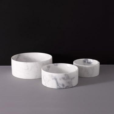 Mr. Dog New York marble bowls