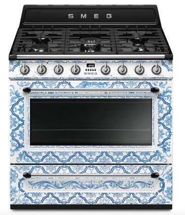 blue and white printed colorful stove Best Stoves for Color Lovers