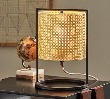 Pottery Barn Nestor Cane Lamp (small), $159