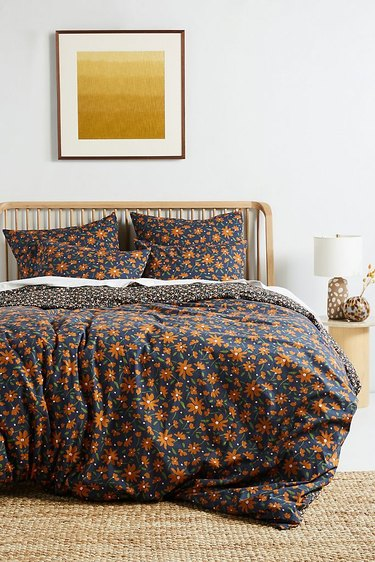 Anthropologie Agnes Organic Percale Duvet Cover (Queen), $148