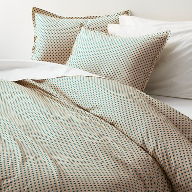 Crate and Barrel Pimenta Teal Duvet Cover and Pillow Sham, $13.99-$48.99