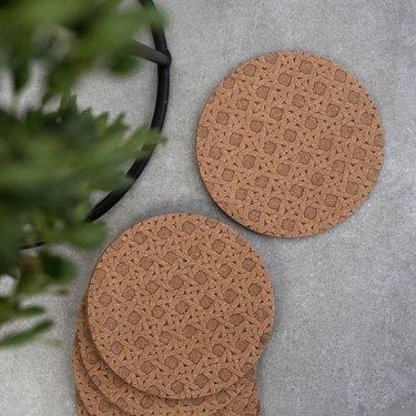 UndercoverUK Leather Coasters (set of 6), $13.60