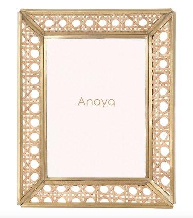 Anaya Natural Cane Wicker Frame (4x6), $85