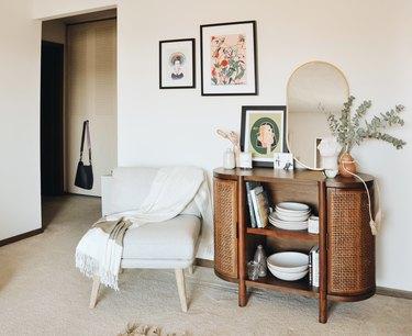 Nine Belton's living room