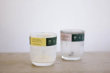 Recycled candle containers