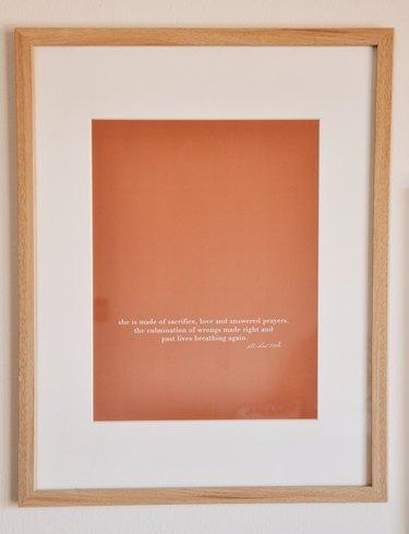 Art in Nina Belton's home