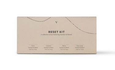 tan Reset essential oils gift kit