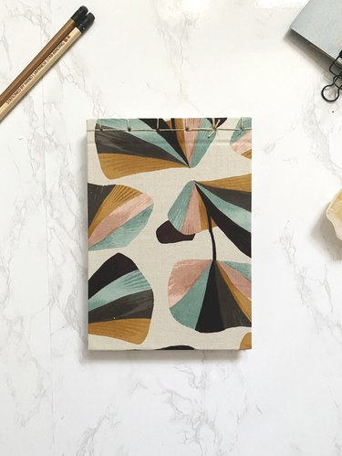 notebook with pattern
