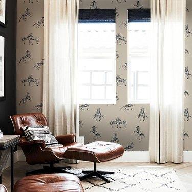 Zebras in Love - Waverly White wallpaper from Novogratz