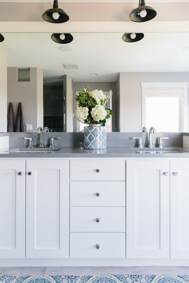 Bathroom designed by Interior Impressions with chrome faucet