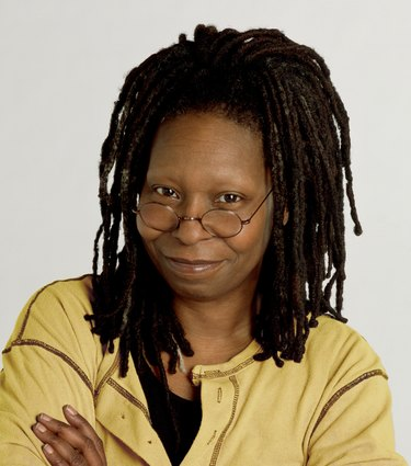 Whoopi Goldberg wearing yellow shirt