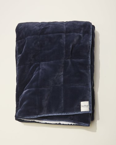 navy quilted weighted blanket
