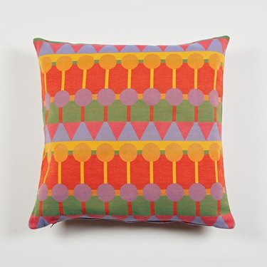 colorful, patterned cushion