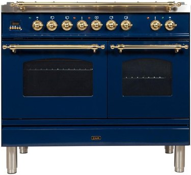 blue colorful stove Best Stoves for Color Lovers