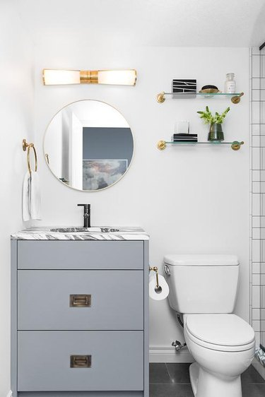 Matte Black Bathroom Faucet black and white marble countertop
