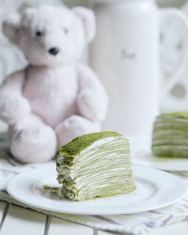 Indulge with Mimi Matcha Mille Crepe Cake