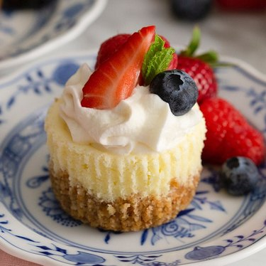 Preppy Kitchen Mini Cheesecakes with berries