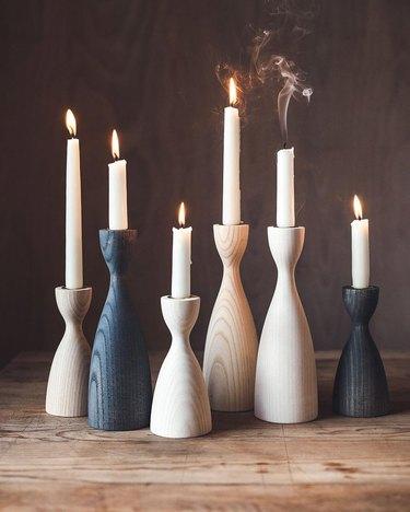 Farmhouse Pottery Pantry Candlestick Set
